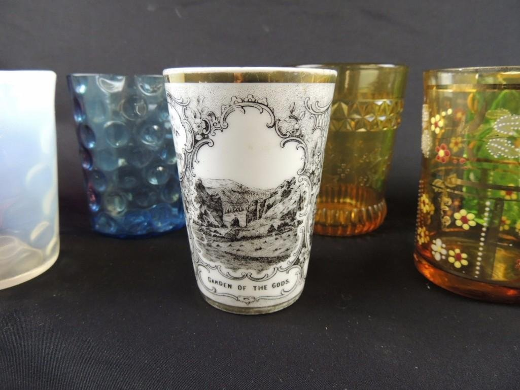 Group of 12 Vintage Glass Tumblers Featuring Coin Dot, - 4