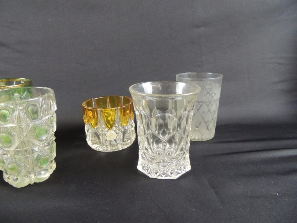 Group of 12 Vintage Glass Tumblers Featuring Coin Dot, - 6