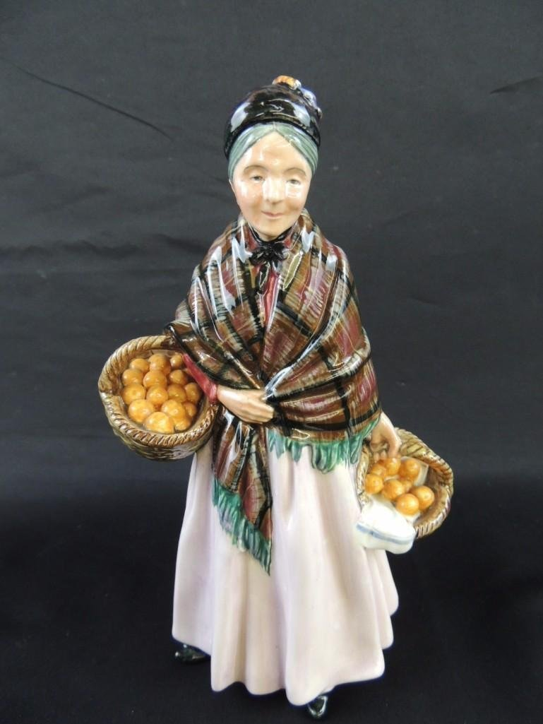 "Royal Doulton Porcelain Figurine of ""The Orange Lady"""