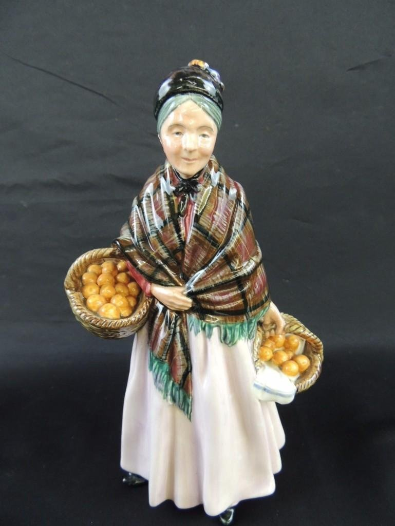 "Royal Doulton Porcelain Figurine of ""The Orange Lady"" - 2"