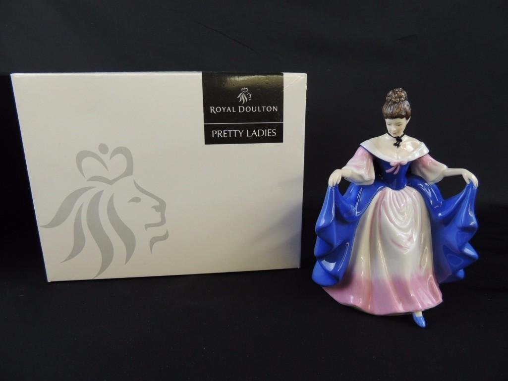 "Royal Doulton Porcelain Figurine of ""Sara"" with"