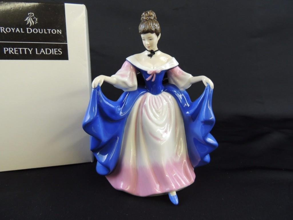"Royal Doulton Porcelain Figurine of ""Sara"" with - 2"