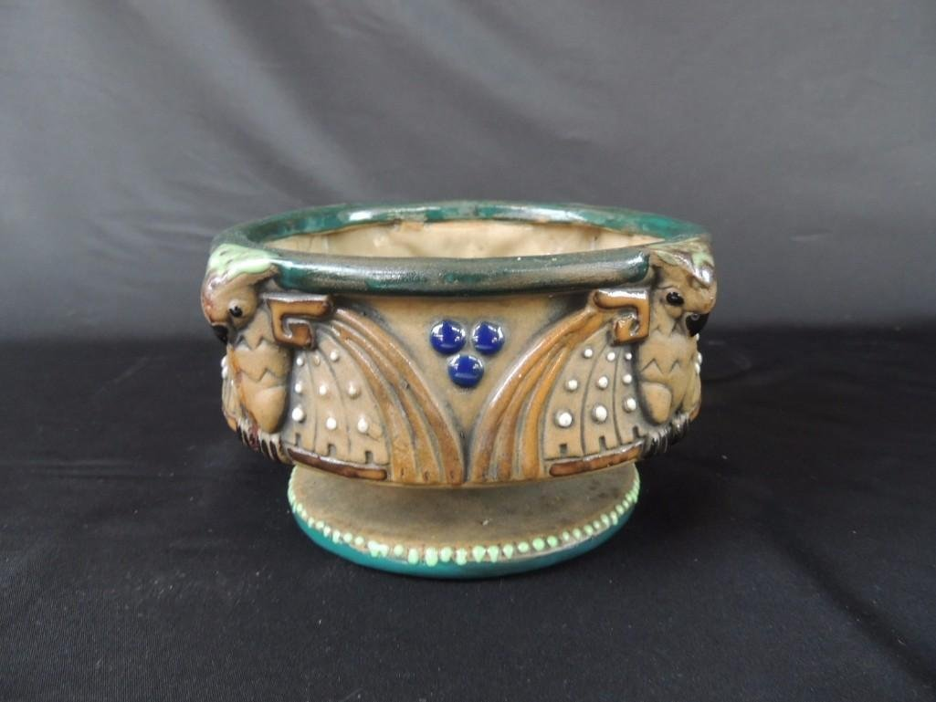 Amphora Owl Pattern Art Pottery Bowl - 3