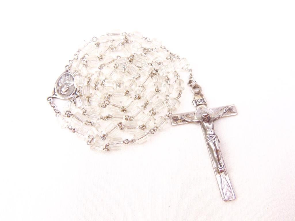 Sterling Silver & Cut Crystal Rosary