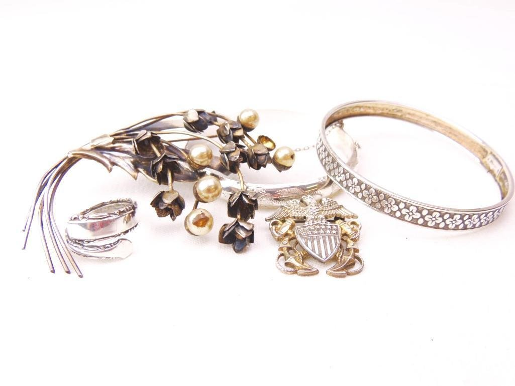 Mixed Lot of Sterling Silver Jewelry 5 Pieces
