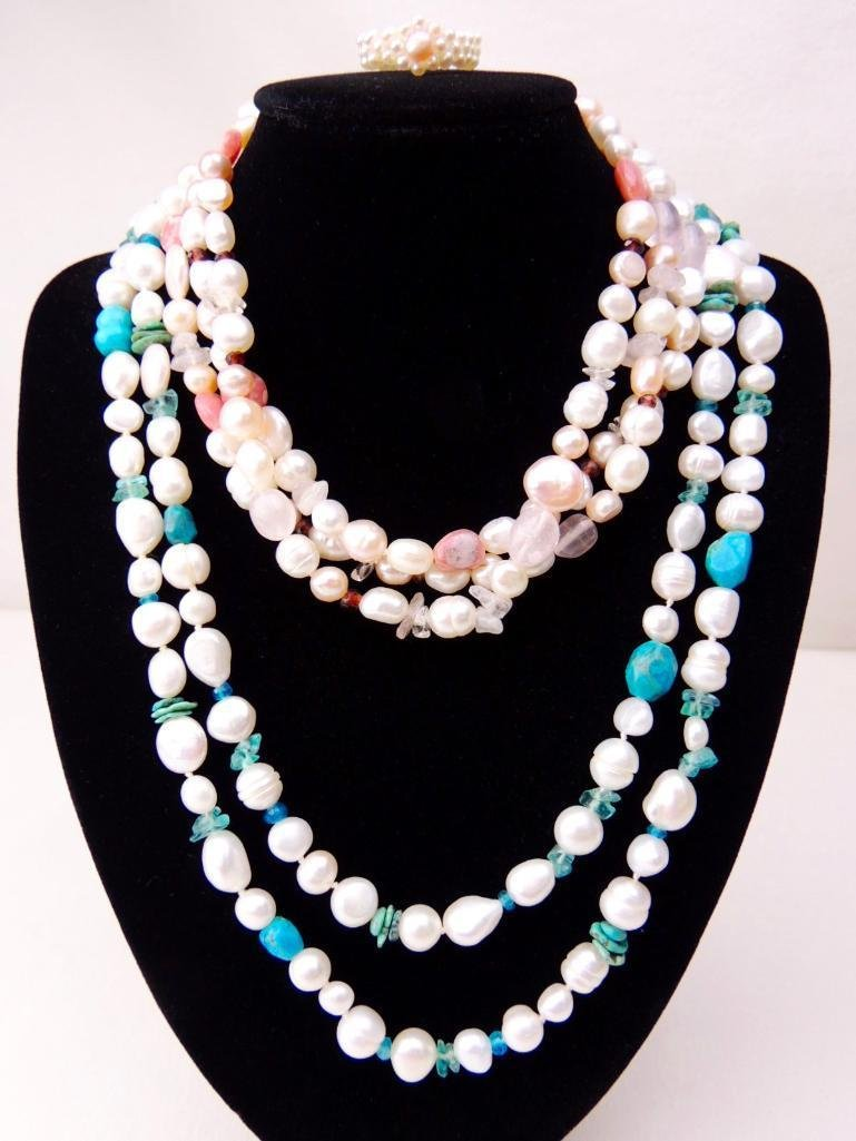 Cultured Pearl 3 Piece Jewelry Lot