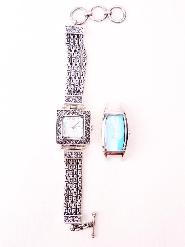 Lot of 2 Sterling Silver Ladies Watches