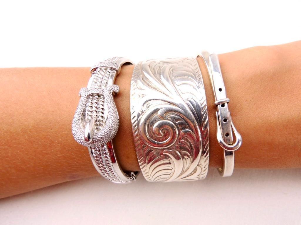 Sterling Silver Bracelets Group of 3