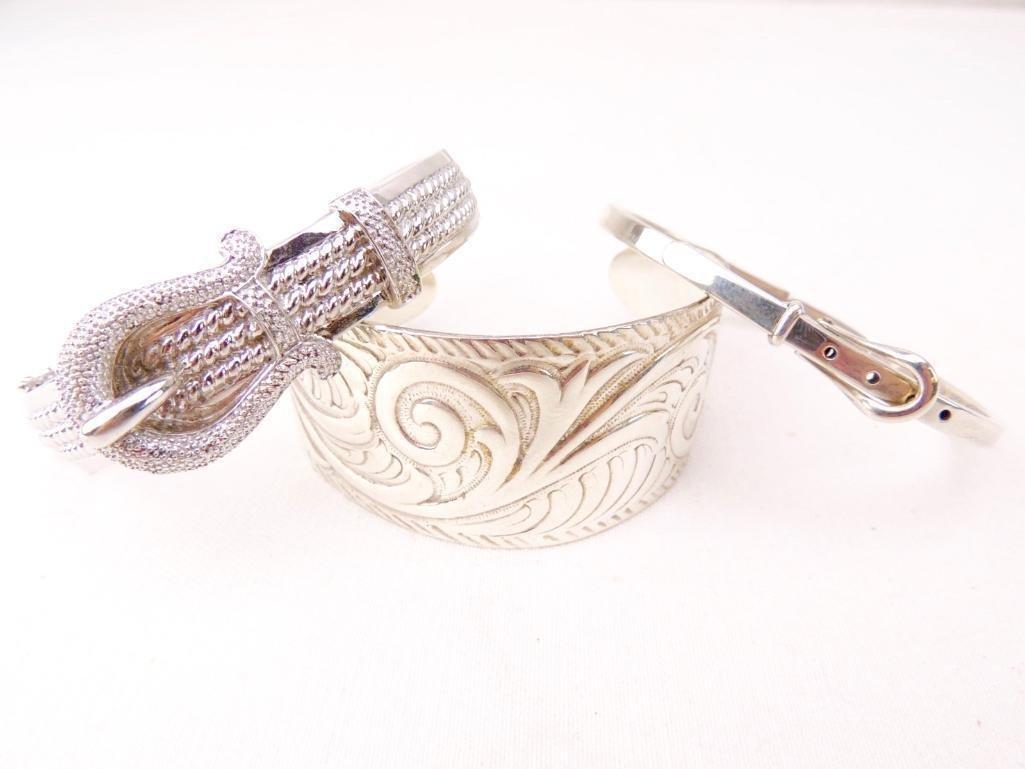 Sterling Silver Bracelets Group of 3 - 2