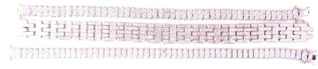 Lot of 3 Sterling Silver Tennis Bracelets