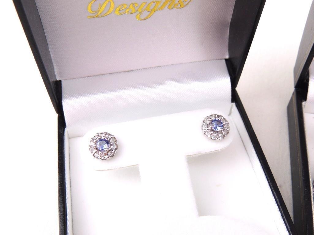 Sterling Silver & Gemstone Earrings Lot of 5 pairs - 3