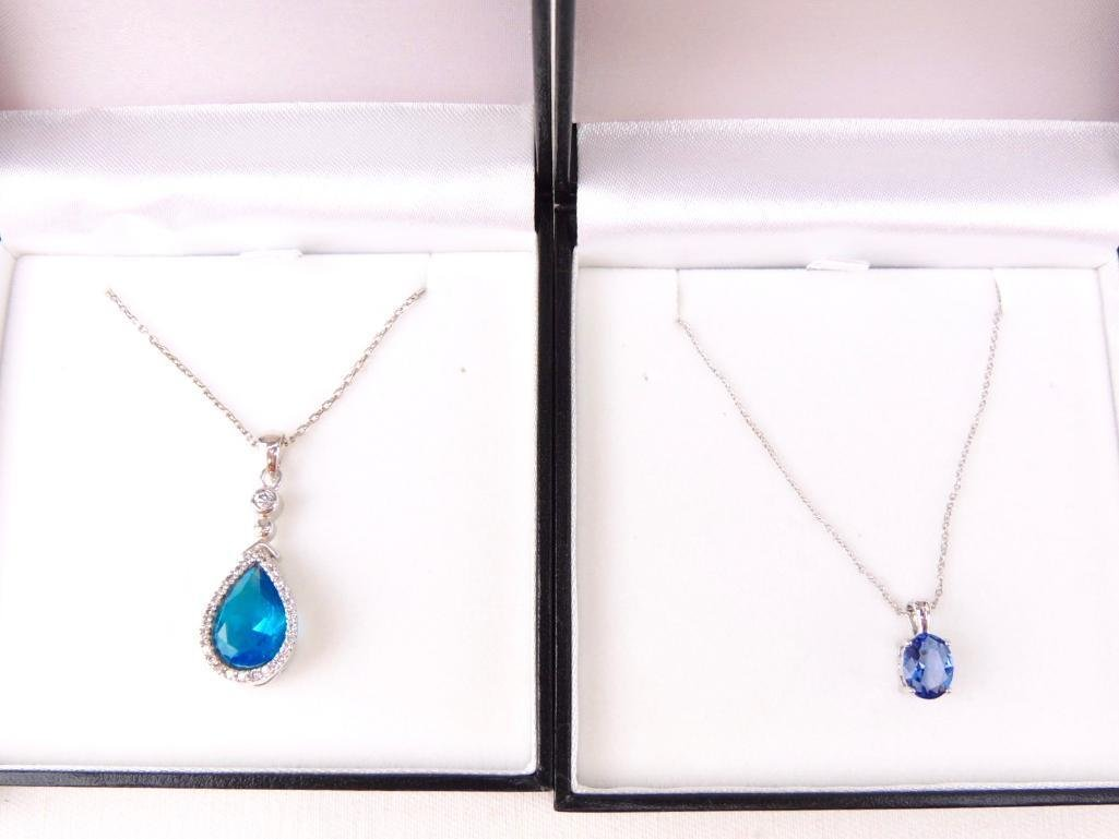 Group of 3 Sterling Silver & Gemstone Necklaces - 2