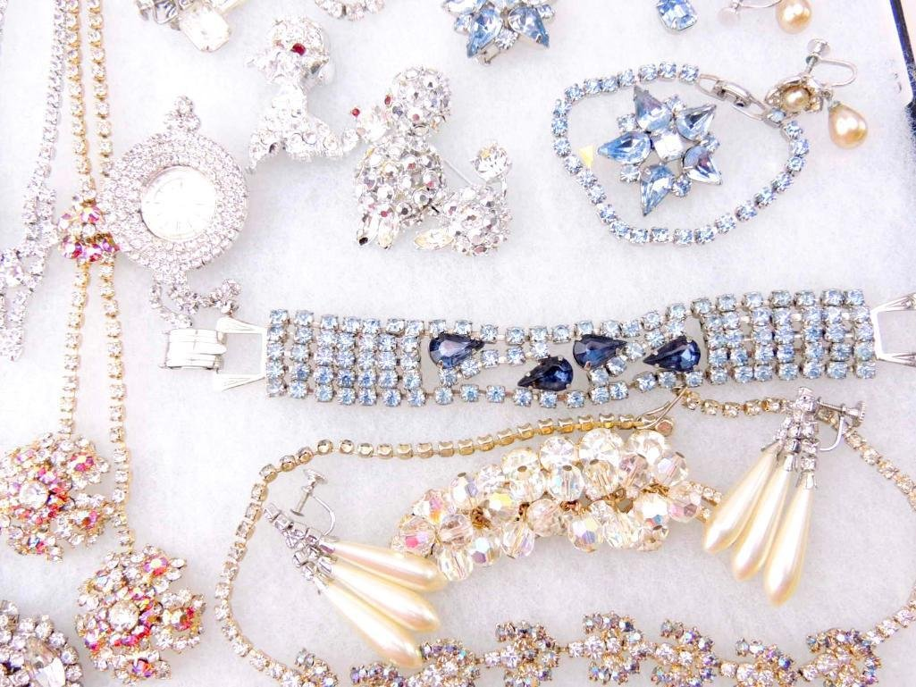 Vintage Rhinestone Jewelry Lot - 2