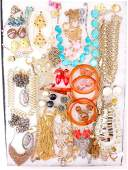 Large Lot of Vintage Costume Jewelry Signed Pieces