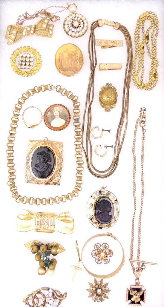Lot of Victorian & Edwardian Jewelry