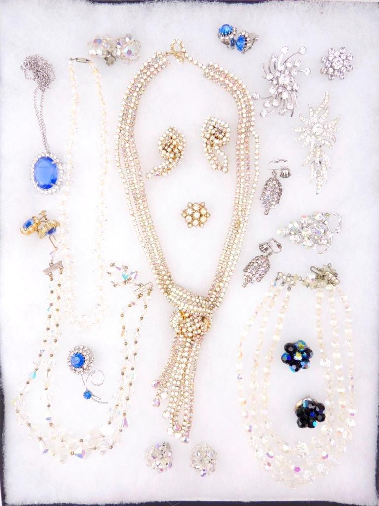 Lot of Vintage Rhinestone Jewelry