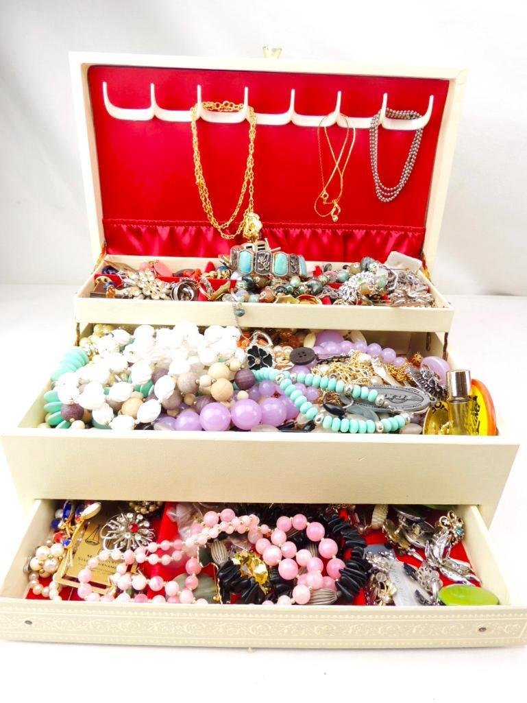 Vintage Costume Jewelry Boxed Lot