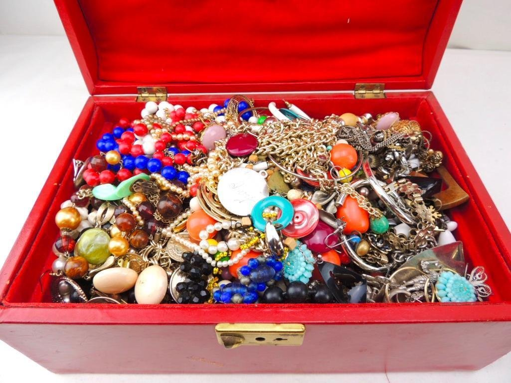 Vintage Boxed Lot of Costume Jewelry