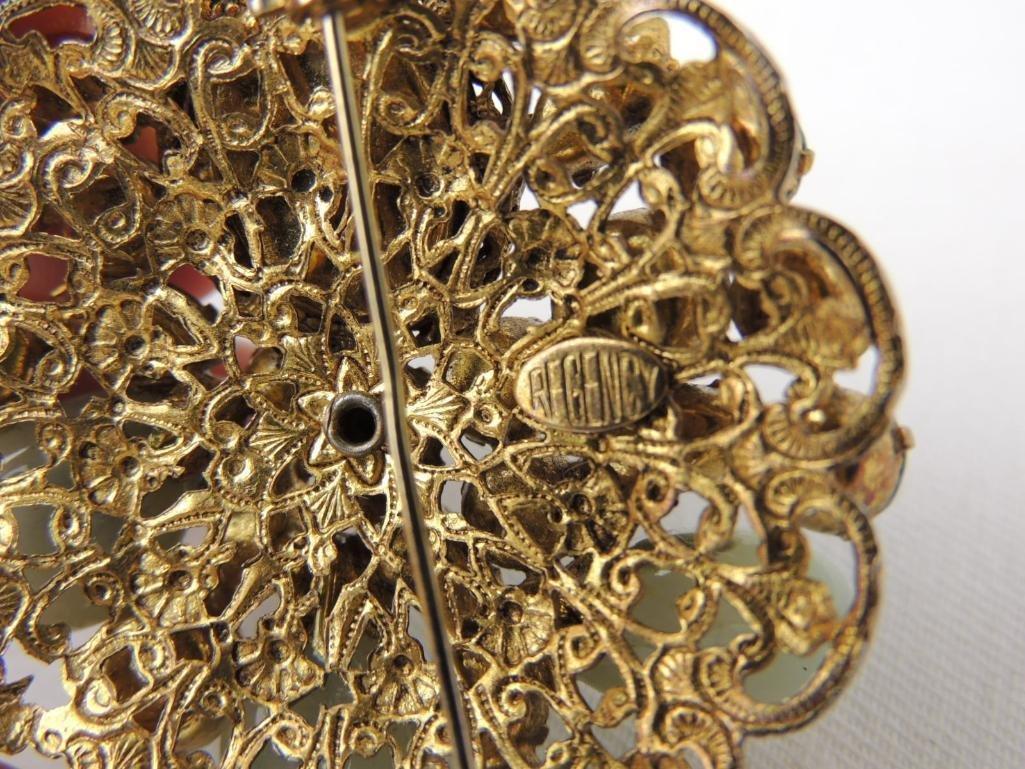 Vintage Signed REGENCY Costume Brooch & Earrings Set - 3