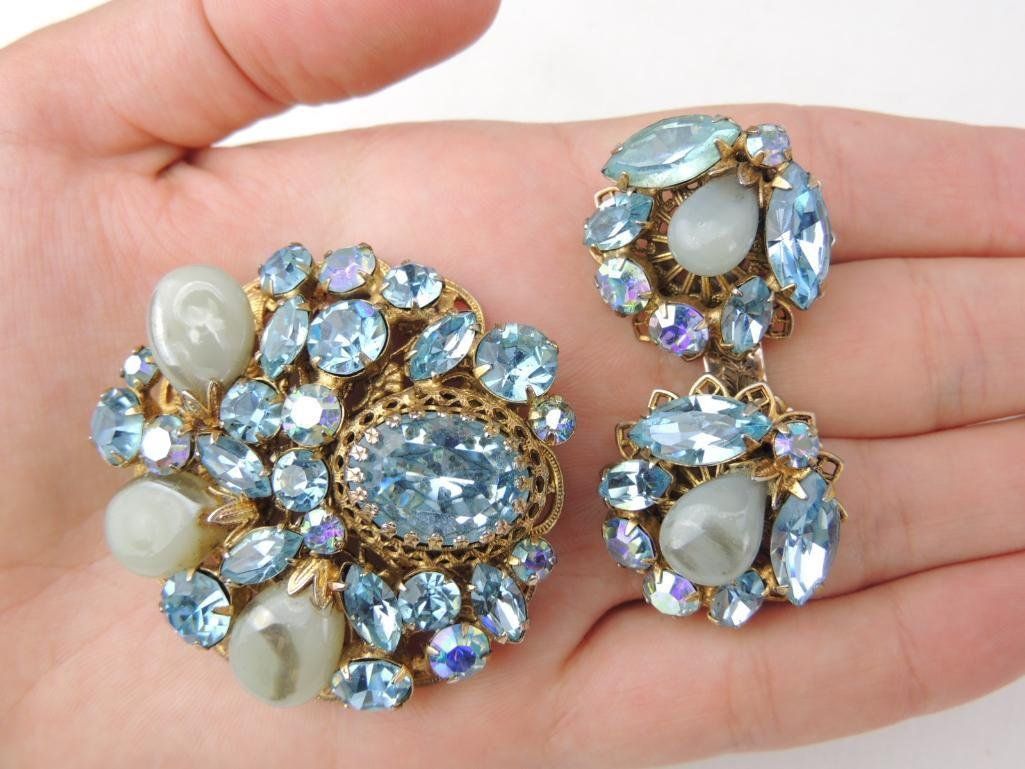 Vintage Signed REGENCY Costume Brooch & Earrings Set - 4