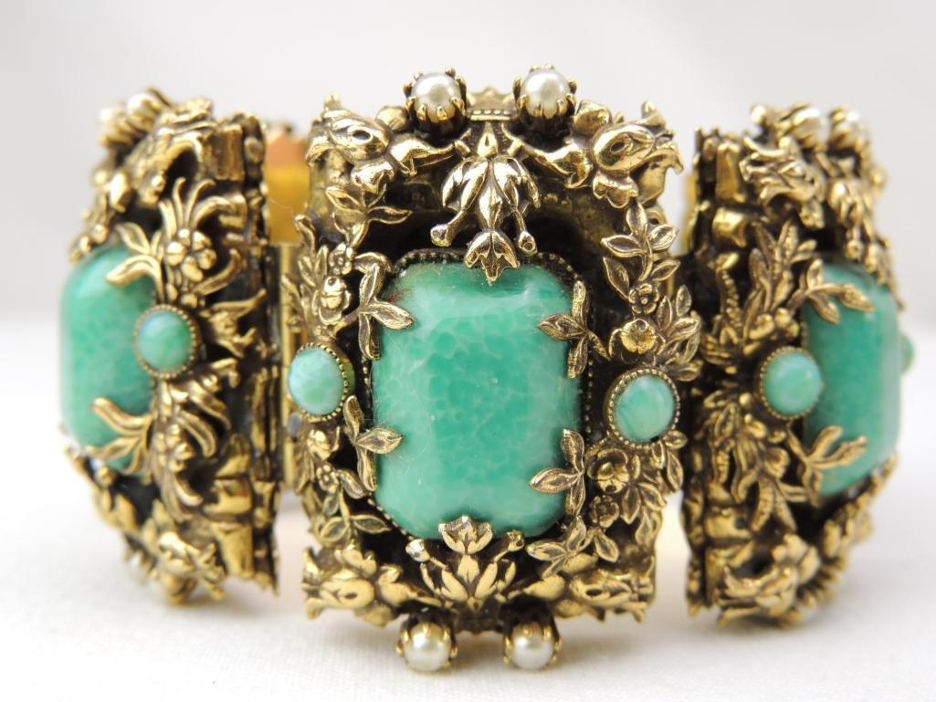 Large Vintage Unsigned Costume Bracelet