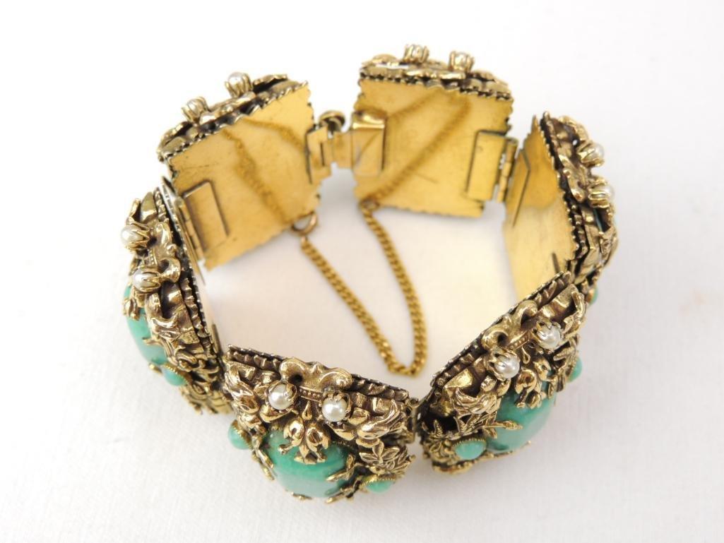 Large Vintage Unsigned Costume Bracelet - 2