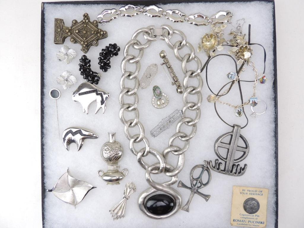 Vintage Silver-Toned Costume Jewelry Lot