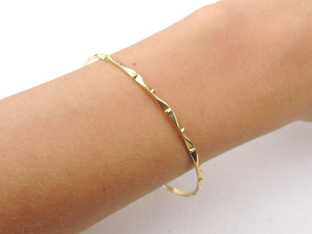 18k Yellow Gold Bangle Bracelet - 4