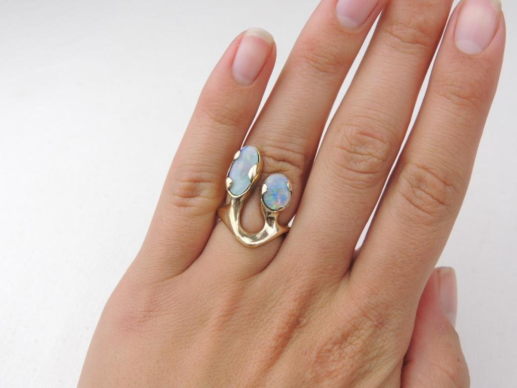 14k Yellow Gold Opal Ring - 3
