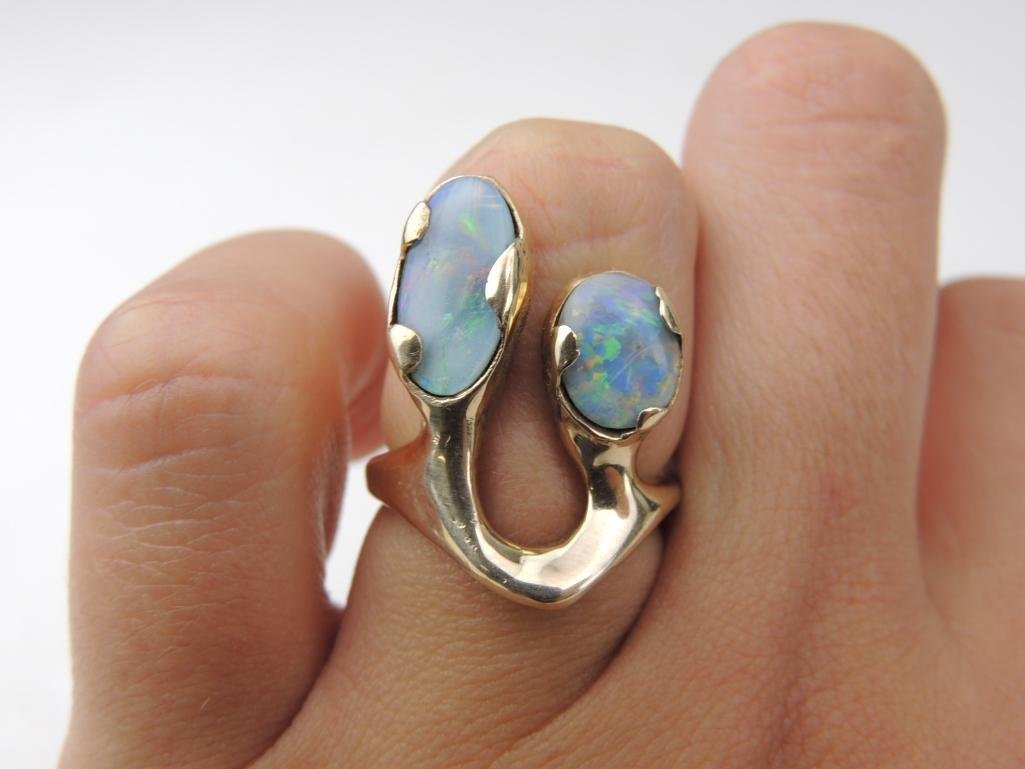 14k Yellow Gold Opal Ring - 4