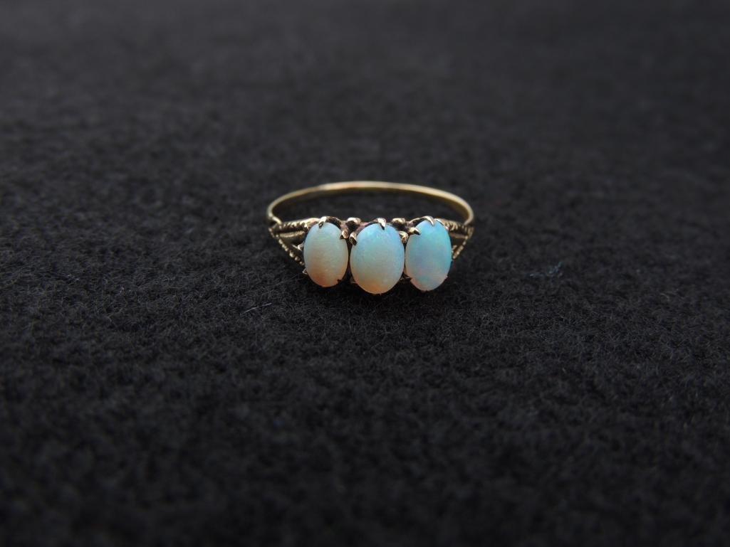 14k Yellow Gold Opal Ring - 2