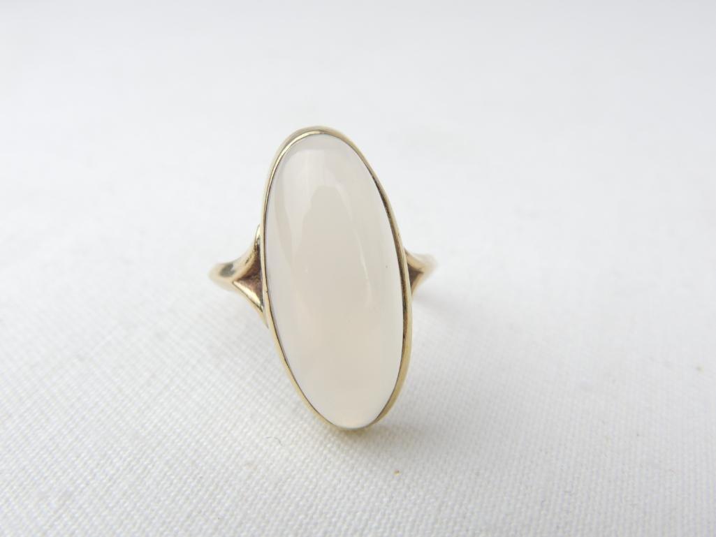 10k Yellow Gold Large Moonstone Ring