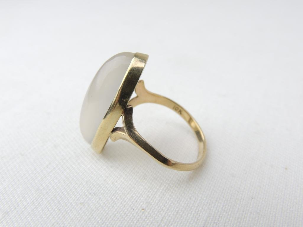 10k Yellow Gold Large Moonstone Ring - 2