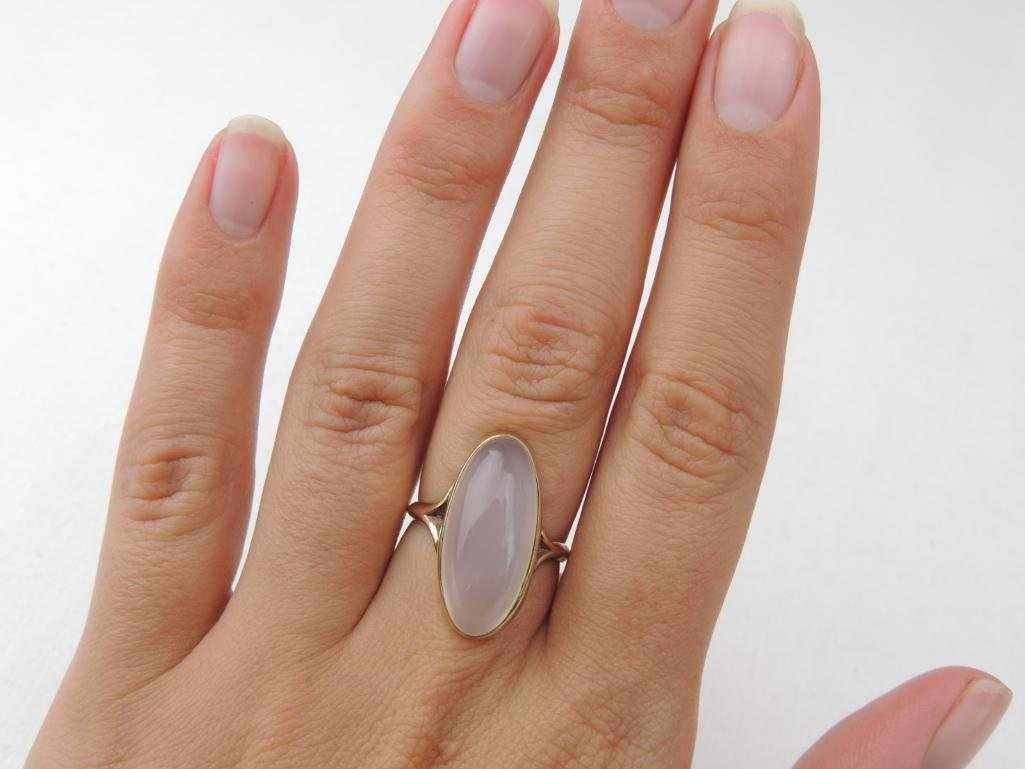10k Yellow Gold Large Moonstone Ring - 3