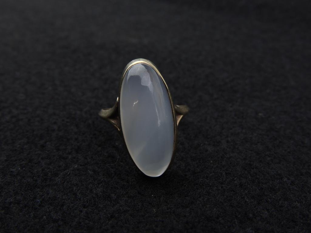 10k Yellow Gold Large Moonstone Ring - 4