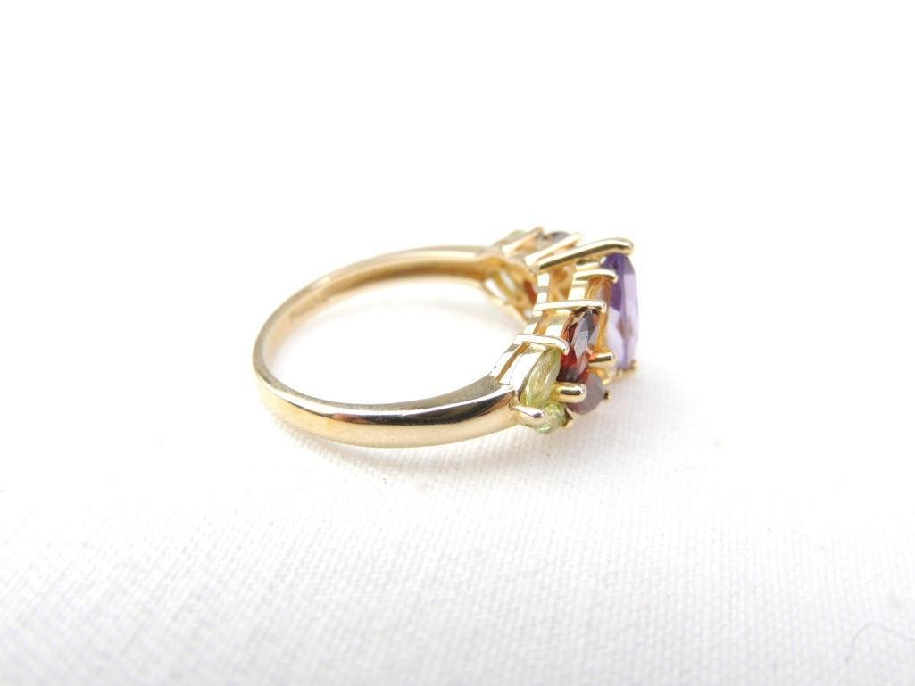 14k Yellow Gold Multi-Gemstone Ring - 2