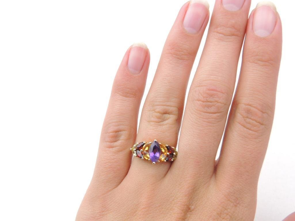 14k Yellow Gold Multi-Gemstone Ring - 3
