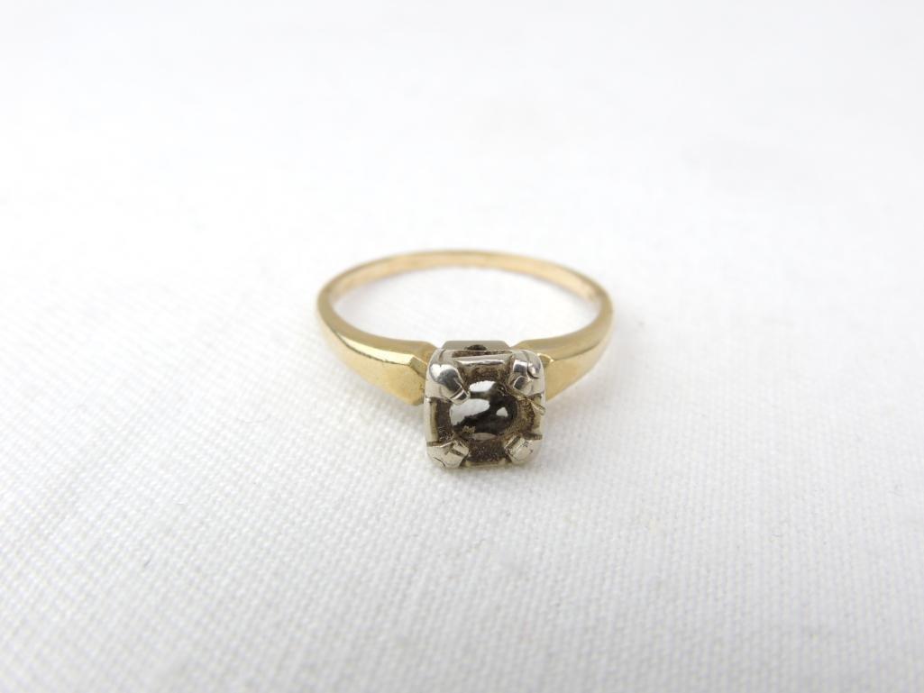 14k Yellow Gold Vintage Ring Setting