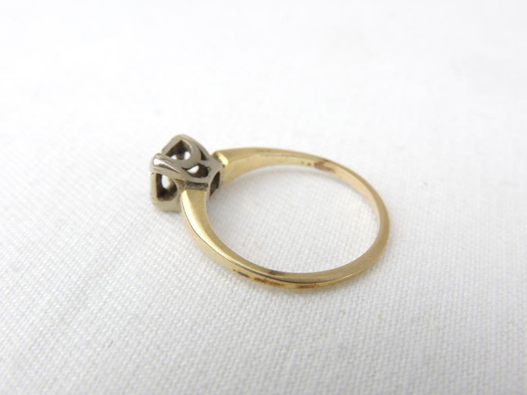 14k Yellow Gold Vintage Ring Setting - 2