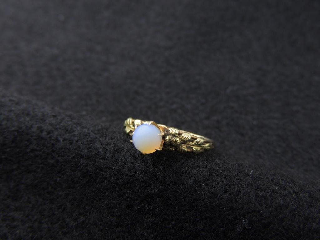 14k Yellow Gold Antique Opal Ring - 3