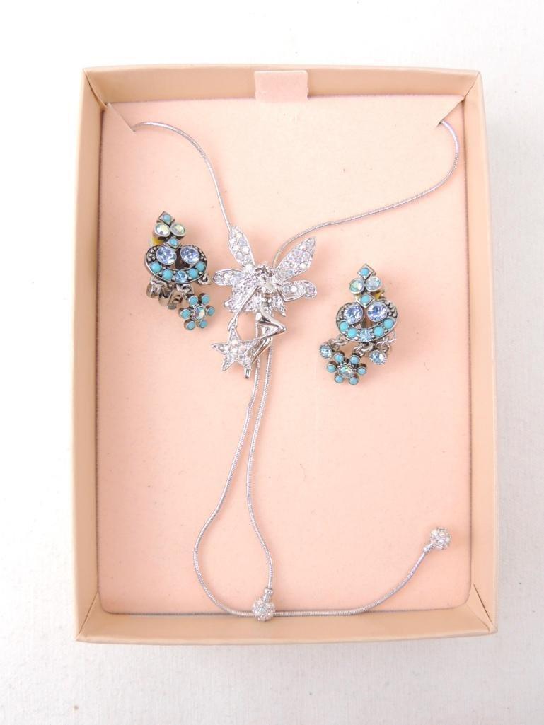 Signed KirksFolly Fairy Necklace & Earrings