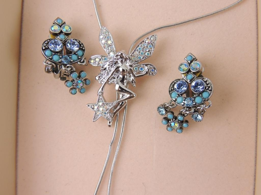 Signed KirksFolly Fairy Necklace & Earrings - 2