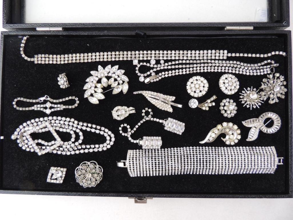 Vintage Rhinestone Costume Jewelry Lot