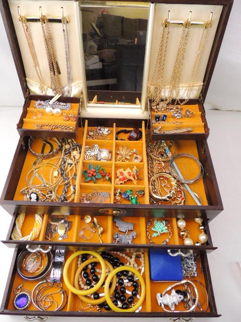 Boxed Lot of Vintage Costume Jewelry