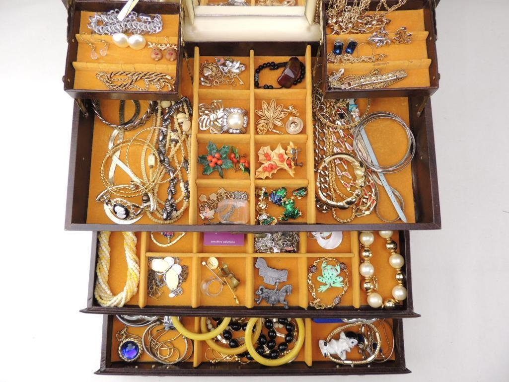 Boxed Lot of Vintage Costume Jewelry - 2