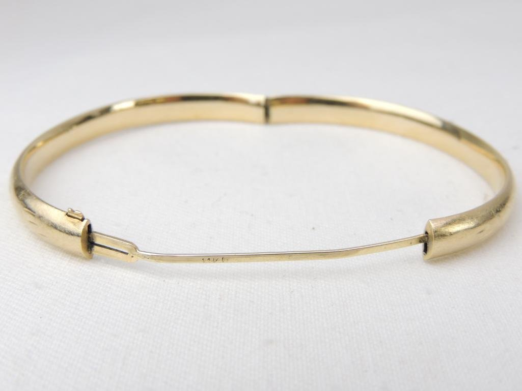 14k Yellow Gold Bangle Bracelet - 2