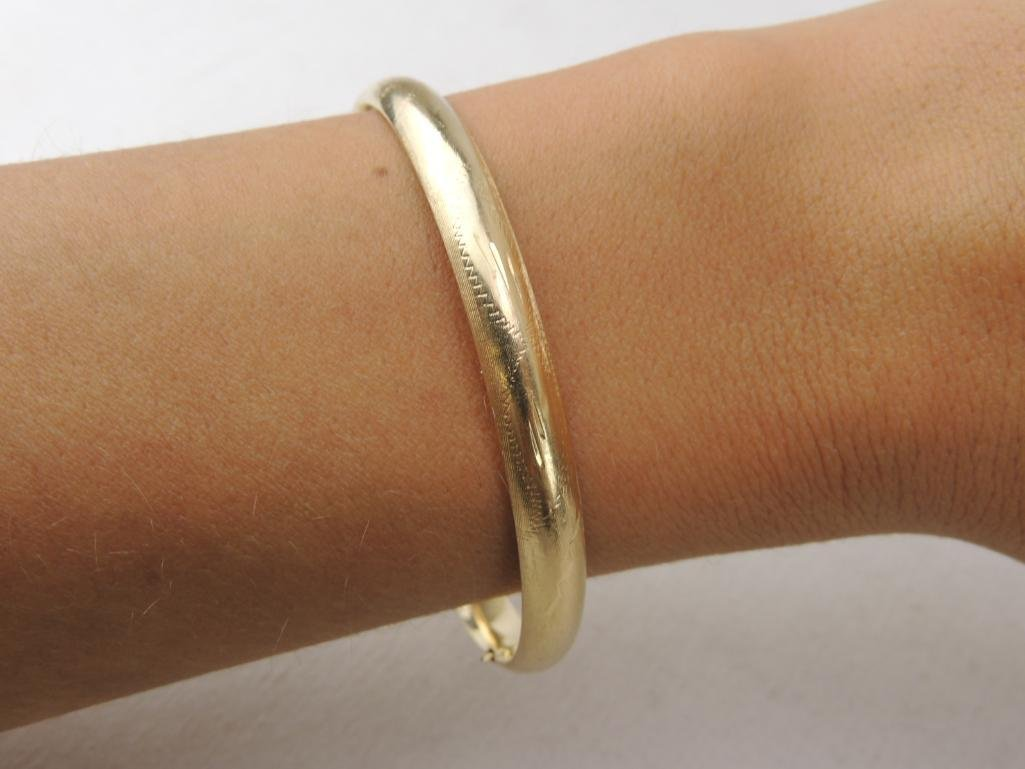 14k Yellow Gold Bangle Bracelet - 3