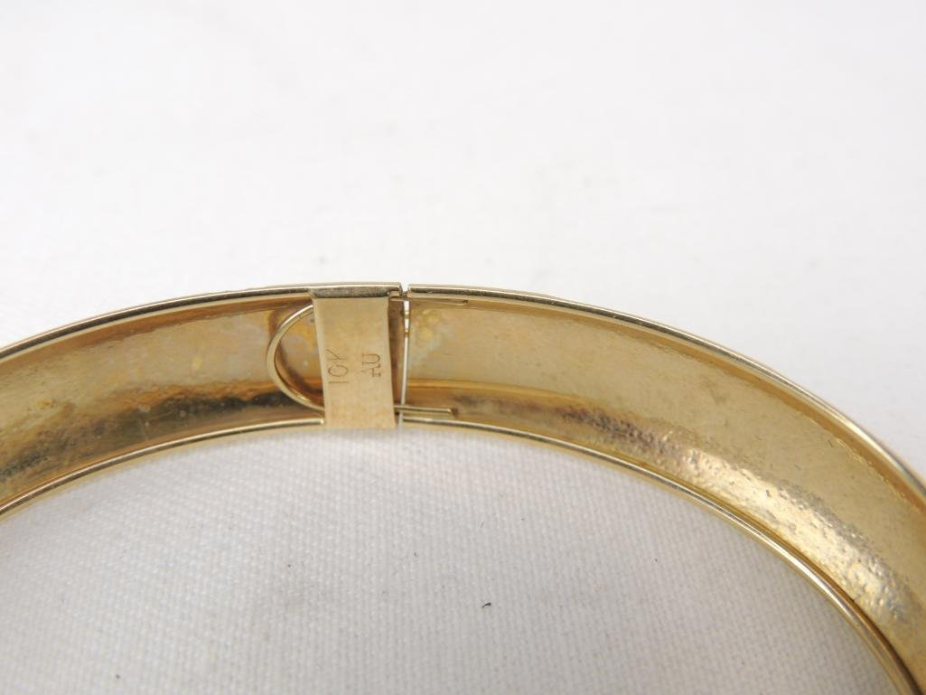 14k Yellow Gold Bangle Bracelet - 2