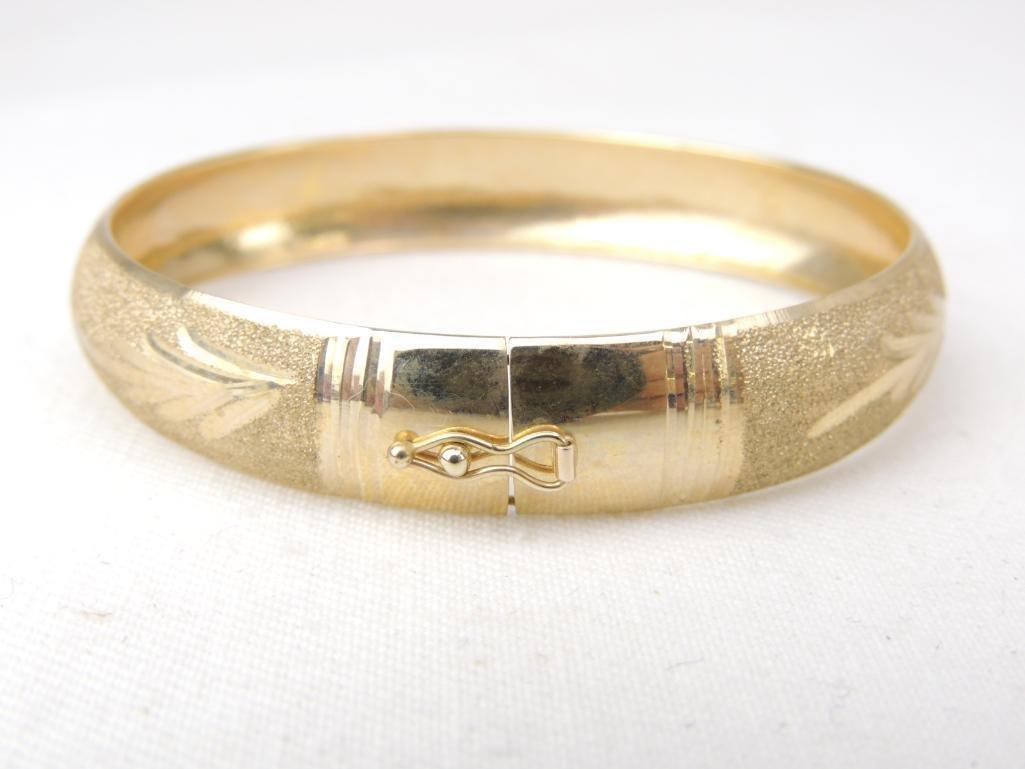 14k Yellow Gold Bangle Bracelet - 3