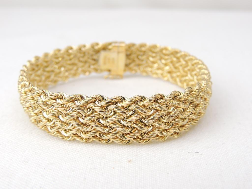 14k Yellow Gold Braided Bracelet